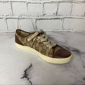 Michael Kors Sneakers Leather/Canvas Tan/Brown Sz8